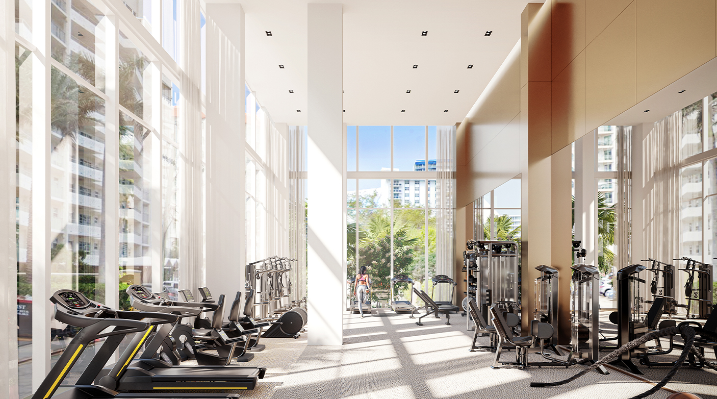 Double-Height Fitness Center